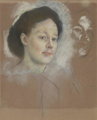 Pastel - The Artist's Cousin, Probably Mrs. William Bell by Edgar Degas