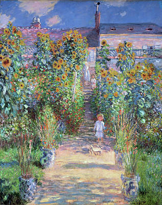 Painting - The Artist's Garden  by Claude Monet