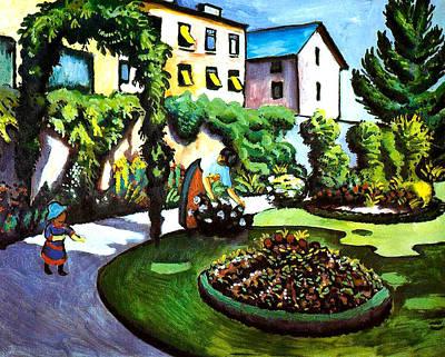 The Artists Garden In Bonn Art Print