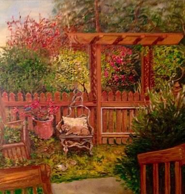 Painting - The Artist's Garden by J Reynolds Dail
