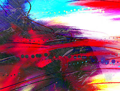 Red Abstract Digital Art - The Artist's Heart by Dan Turner