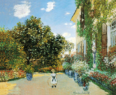 Photograph - The Artists House At Argenteuil by Claude Monet