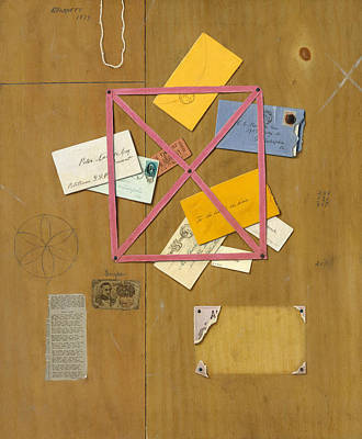 Rack Painting - The Artist's Letter Rack by William Michael Harnett