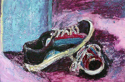 The Artists Shoes Art Print by Sarah Crumpler