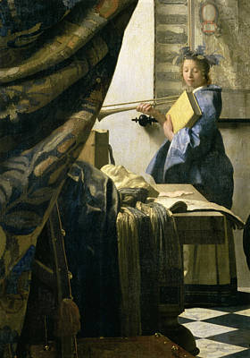 The Artists Studio Art Print by Jan Vermeer