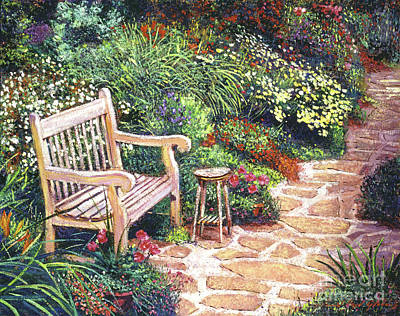 Pathway Painting - The Artist's Sunbench by David Lloyd Glover
