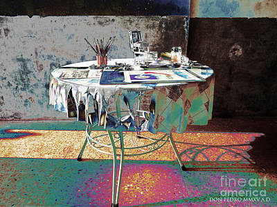The Artists Table Art Print by Don Pedro De Gracia