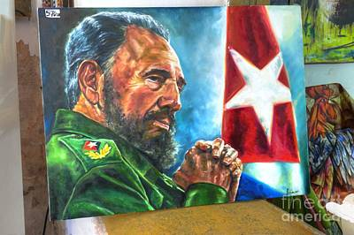 Becky Photograph - The Arts In Cuba Fidel Castro 2 by Wayne Moran