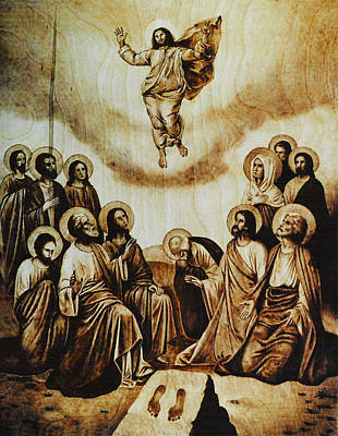 Custom Reproductions Pyrography - The Ascension Of Christ by Dino Muradian