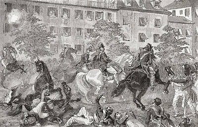 The Assassination Attempt On King Louis Art Print