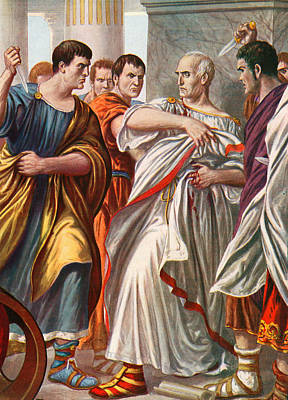 Politics Painting - The Assassination Of Julius Caesar by Tancredi Scarpelli