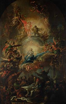 Host Painting - The Assumption by Johann Christoph Lischka