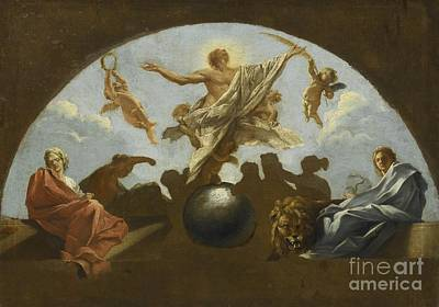 18th Century Painting - The Assumption Of A Martyred Saint by Celestial Images