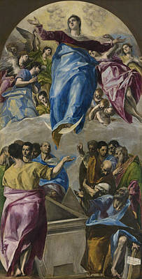 The Assumption Of The Virgin Art Print by El Greco