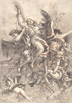 Drawing - The Assumption Of The Virgin by Giovanni Domenico Tiepolo
