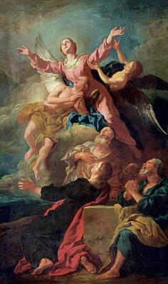 Cherub Painting - The Assumption Of The Virgin by Jean Francois de Troy