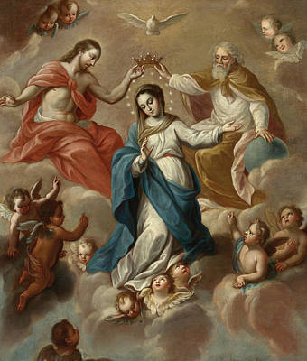 Painting - The Assumption Of The Virgin by Miguel Cabrera