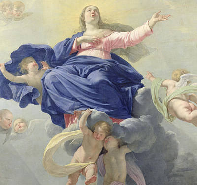 Ascend Painting - The Assumption Of The Virgin by Philippe de Champaigne