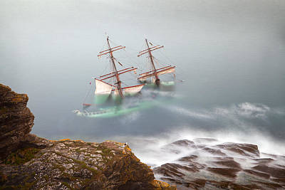 The Astrid Goes Aground Art Print by Alan Mahon