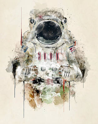 Painting - The Astronaut by Bleu Bri
