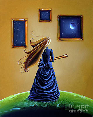 Outer Space Painting - The Astronomer by Cindy Thornton
