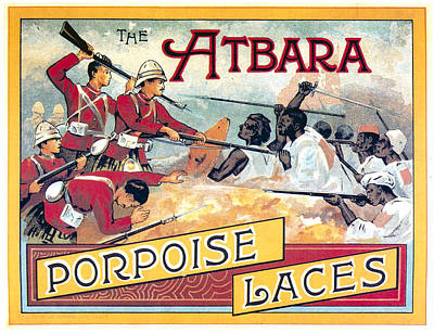 Mixed Media - The Atbara Porpoise Laces - Vintage Advertising Poster by Studio Grafiikka