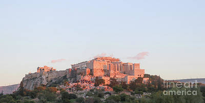 Photograph - The Athens Accropolis At Sunset by Susan Vineyard