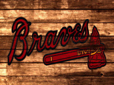 Grapefruit Mixed Media - The Atlanta Braves 3a     by Brian Reaves