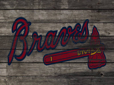 Grapefruit Mixed Media - The Atlanta Braves 3e     by Brian Reaves