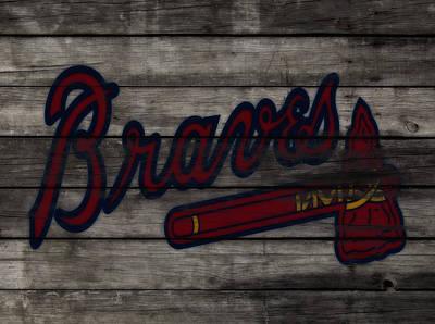 The Atlanta Braves 3f    Art Print by Brian Reaves