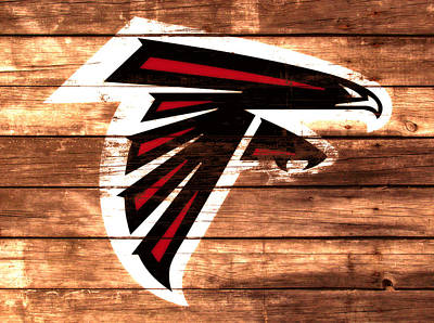 The Atlanta Falcons 3a Art Print by Brian Reaves