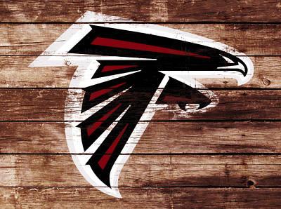 The Atlanta Falcons 3f Art Print by Brian Reaves