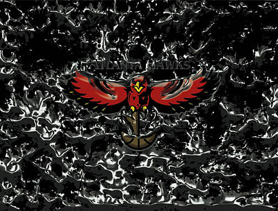 River Jordan Mixed Media - The Atlanta Hawks 1a by Brian Reaves