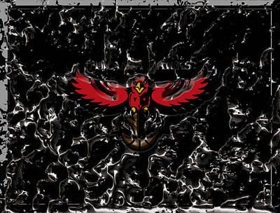 River Jordan Mixed Media - The Atlanta Hawks 1b by Brian Reaves