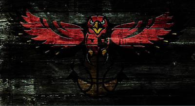 River Jordan Mixed Media - The Atlanta Hawks W1 by Brian Reaves