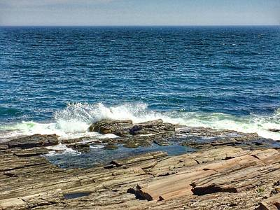 Photograph - The Atlantic Ocean At Maine's Two Lights State Park  by Patricia E Sundik