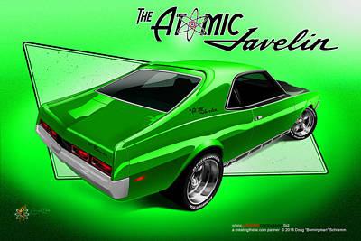 The Atomic Javelin Rear Art Print