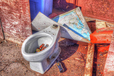Photograph - The Atomic Toilet by Richard J Cassato