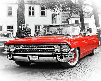 Photograph - The Attraction - 1961 Cadillac Deville Convertible by Gabriele Pomykaj