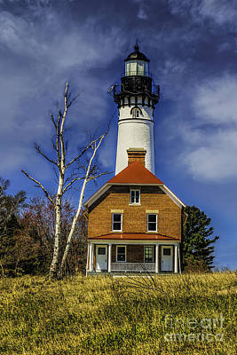 Photograph - The Au Sable Point  Lightstation by Nick Zelinsky