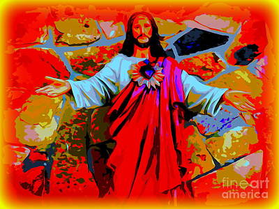 Digital Art - The Aura Of Christ by Ed Weidman