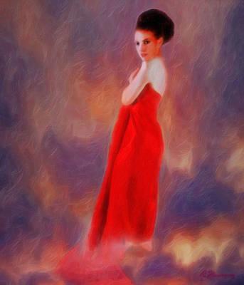 The Aura Of Her World Art Print by Richard Hemingway
