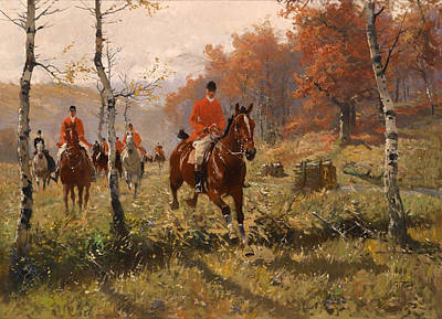 Clearing Painting - The Autumn Hunt by Mountain Dreams