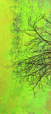 London Central Mixed Media - The Autumn Tree Triptych 1 Of 3 by Ken Figurski