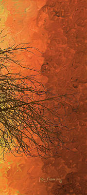 The Autumn Tree Triptych 3 Of 3 Art Print by Ken Figurski