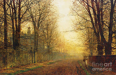 Bare Trees Painting - The Autumn's Golden Glory by John Atkinson Grimshaw