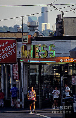 Photograph - The Ave U District Seattle by Jim Corwin