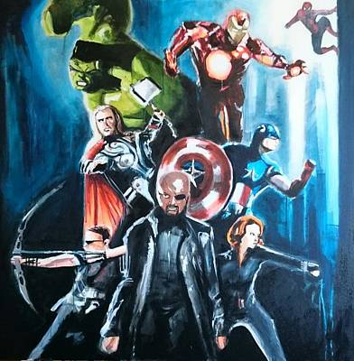 Painting - The Avengers by Paul Mitchell