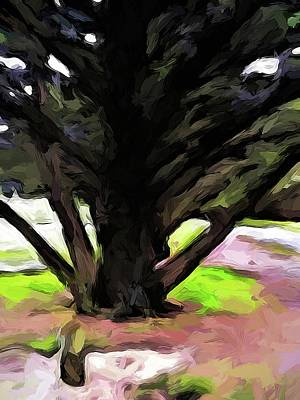 Digital Art - The Avenue Of Trees 1 by Jackie VanO