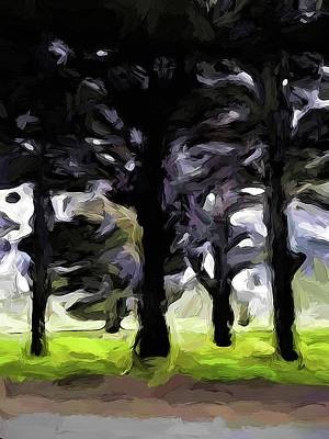 Digital Art - The Avenue Of Trees 2 by Jackie VanO